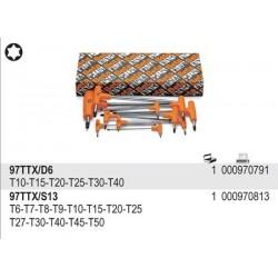 ZESTAW - KLUCZE TRZPIENIOWE KĄTOWE PROFIL TORX®, Z RĘKOJEŚCIĄ  97TTX/S13